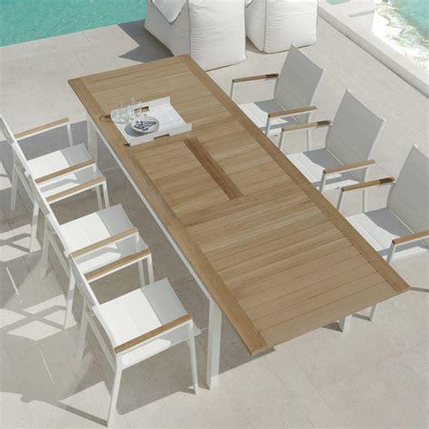 tavolo da giardino in legno tavolo da pranzo da giardino allungabile in legno di teak