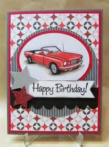 birthday card car savvy handmade cards classic car birthday card