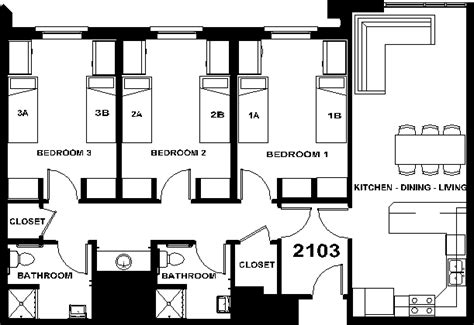 dorm room floor plan byu on cus housing
