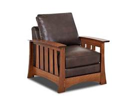Mission Style Recliner Mission Style Leather Chair American Made Highlands Cl7016c