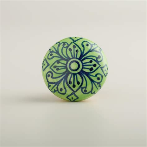 World Market Knobs by Green And Navy Knobs Set Of 2 World Market