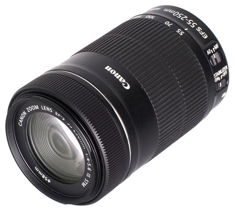 canon zoom canon objektiv ef s 55 250 f 4 5 6 is stm zoom 8546b005
