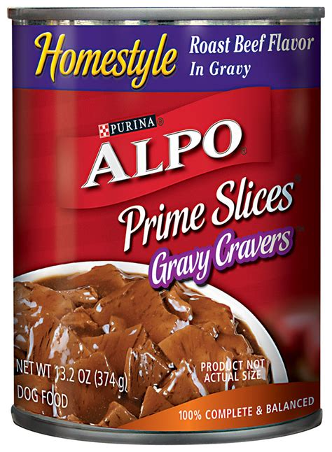 Food Alpo Prime Cuts With Beef Flavor In Gravy 623g alpo prime slices homestyle roast beef flavor in gravy food 13 2 oz can