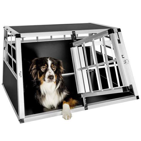 gabbia per cani per auto trasportino doppio gabbia in alluminio per cani da auto