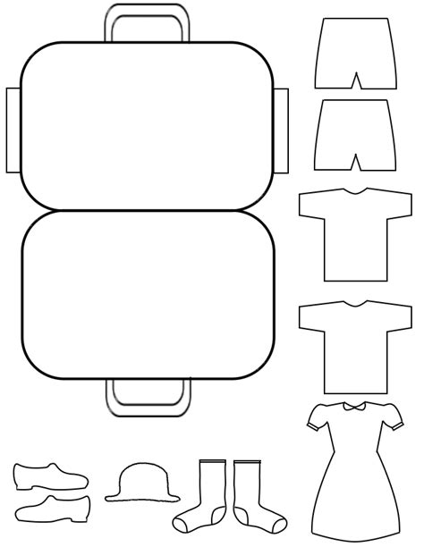 suitcase template how to draw suitcase template