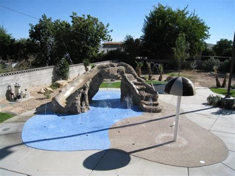 backyard splash pad cost residential splash pads landscaping network