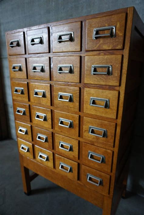 industrial oak filing cabinet 1950s for sale at 1stdibs