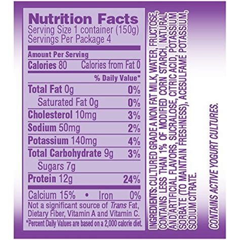 dannon light and fit raspberry nutrition nutrition facts for dannon light and fit yogurt