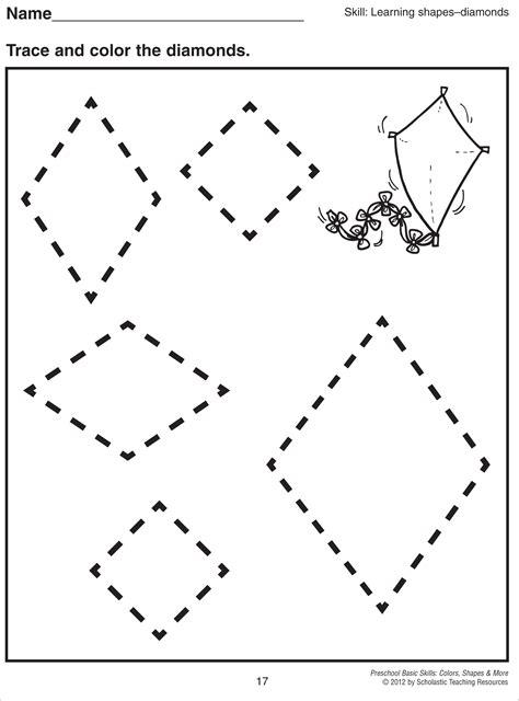 free printable rhombus shapes printables drawing rhombus worksheet messygracebook