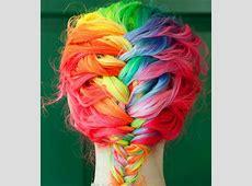 rainbowglow: rainbow hair girl Rainbow Hair Tumblr