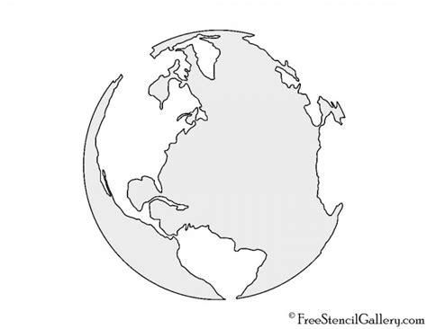 Earth Stencil Free Stencil Gallery Planet Stencils Printable