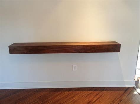 custom built floating shelves custom made floating shelf with walnut veneer