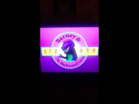 barney and the backyard gang vhs opening to barney and the backyard gang barneys cfire sing along vhs 1990 musica