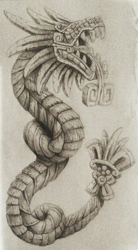 quetzalcoatl tattoo design pin by cj molina on tatoos and