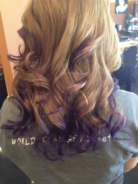 layers underneath hair for body damage hair purple ombre hair i like that its just the underneath