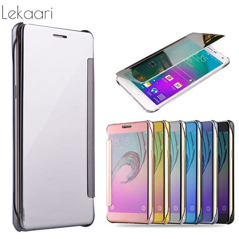Samsung Galaxy J7 2017 J720 Flipcase Mirror Smart Flip Cover Casing mirror smart fundas for samsung galaxy j1 j2 j3 j5 j7 2015 2016 2017 prime flip cover