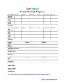 bill template pdf monthly bill organizer hashdoc