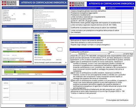 esempio certificazione energetica appartamento certificato energetico o attestato di certificazione