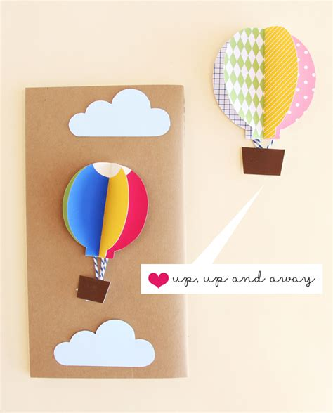 diy pop up card air balloon pop up greeting cards
