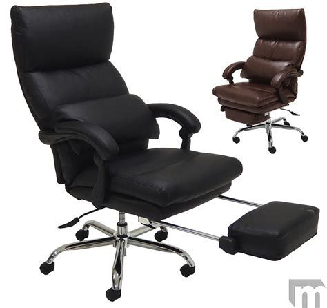 office recliner chair leather pillow top leather office recliner w footrest