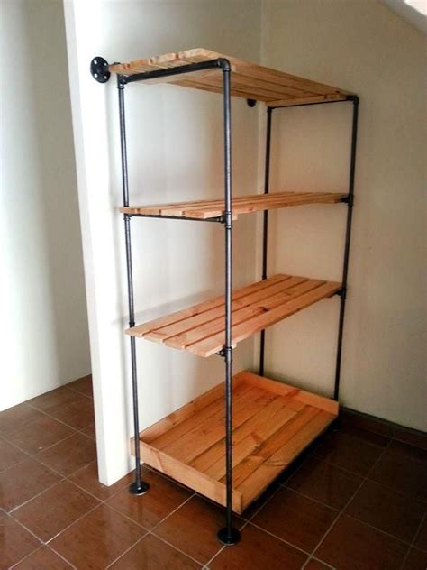 diy firewood rack pipe pallet and metal pipe storage rack bookcase in 2018 wood working projects
