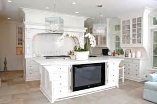 Island to house tv with doors white glass front kitchen cabinets