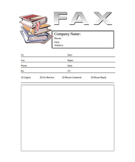 cover page templates for books 10 generic fax cover sheet templates free sle
