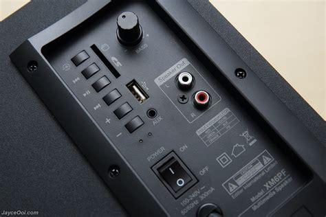 Edifier Multimedia Speaker With Fm Xm2pf edifier xm6pf 2 1 multimedia speaker review jayceooi