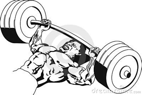 cartoon bench press bench press stock photo image 355560