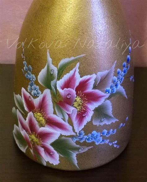 come dipingere i fiori oltre 25 fantastiche idee su pittura bottiglia su