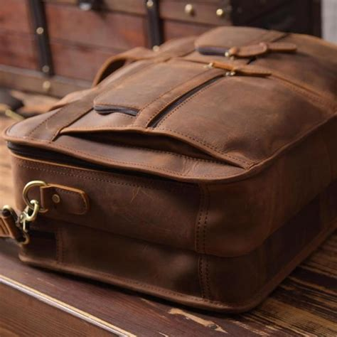 Handmade Luggage - handmade genuine leather luggage bag travel bag 15