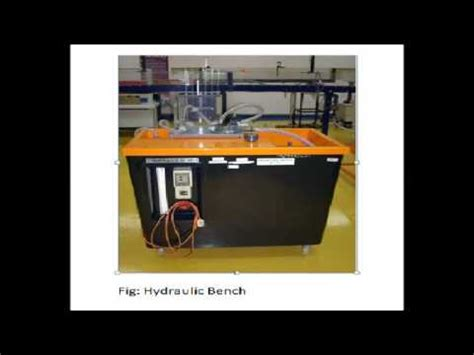 parts of hydraulic bench demonstration of various parts of hydraulic bench