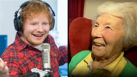 ed sheeran nancy mulligan watch ed sheeran s nan listened to nancy mulligan for