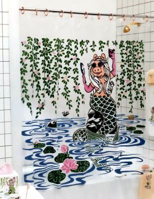 muppets shower curtain miss piggy bathroom set muppet wiki fandom powered by