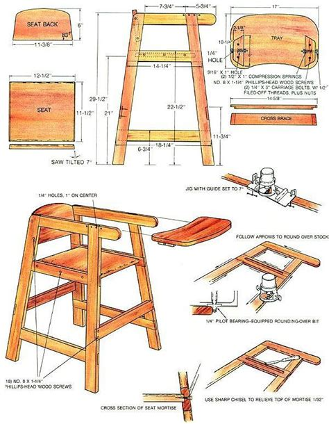 high chair woodworking plans woodworking projects plans