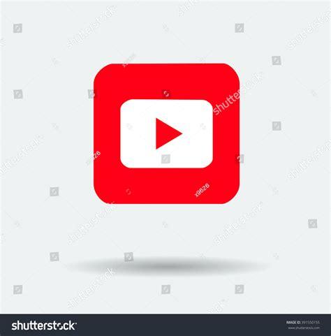 youtube layout vector red play vector logo jpg jpeg stock vector 391550155