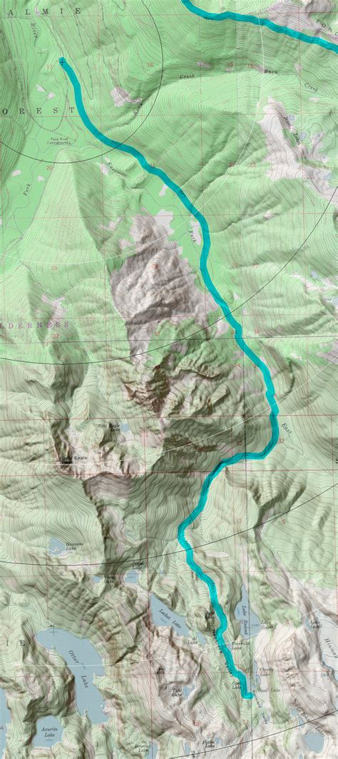 necklace valley alpine lakes west district at hiker org