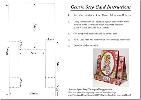 center step card instructions card how to s pinterest