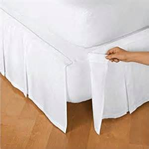 Bedskirt For King Size Adjustable Bed Detachable Box Pleat Bed Skirt White