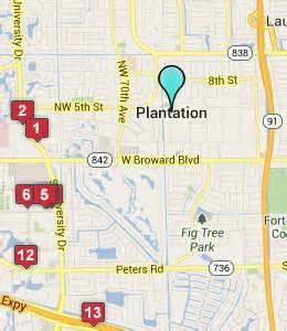 map of plantation florida plantation fl hotels motels see all discounts