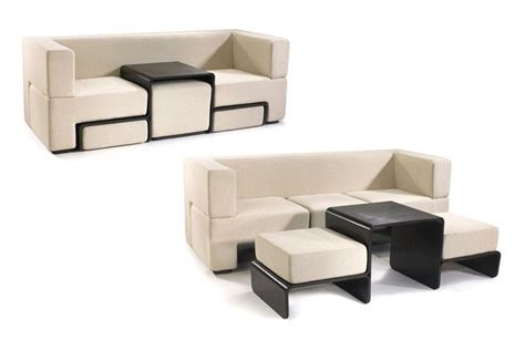 slot sofa with coffee table and footrests bonjourlife