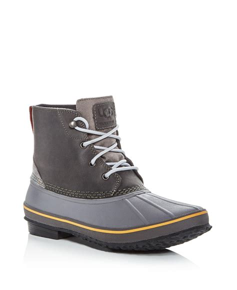 ugg waterproof boots lyst ugg s zetik waterproof leather duck boots for