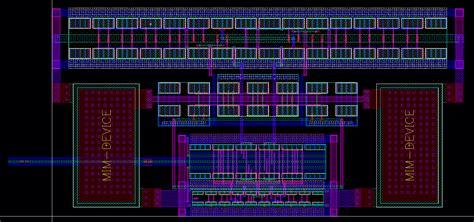 mim capacitor esd ota layout