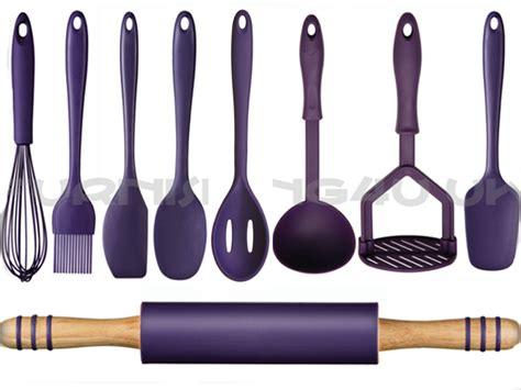 9pc kitchen utensils cutlery set masher turner whisk spoon