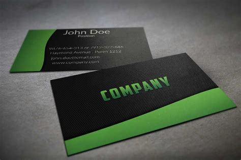 green business card template textured black and green business card template by