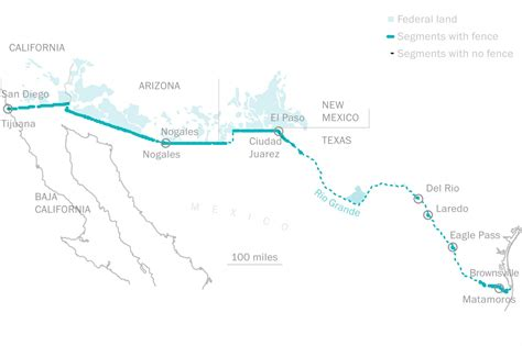 map us mexico border 2 the rural signs directive for border wall
