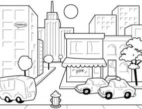 City Coloring Pages Provide As The Object Of For Kids  sketch template