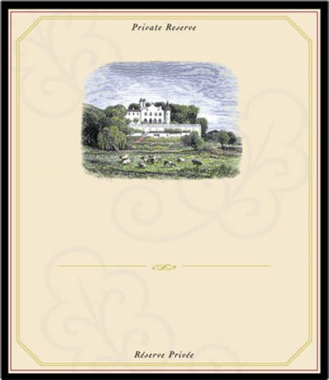 blank wine label template chateau blank pop inkjet label stoney creek wine press