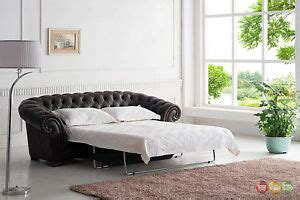chesterfield pull out sofa brown italian leather button tufted chesterfield pull out