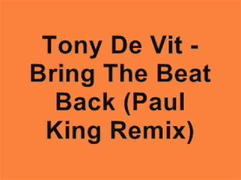 bring back the king the new science of de extinction bloomsbury sigma books tony de vit bring the beat back paul king remix